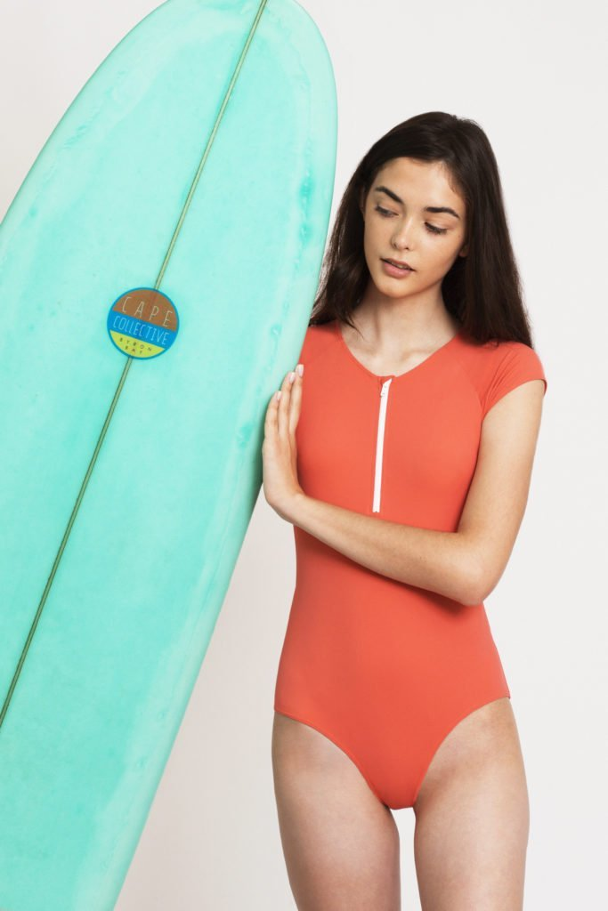 maillot de bain 1 pièce orange ado fashion ultra stretch