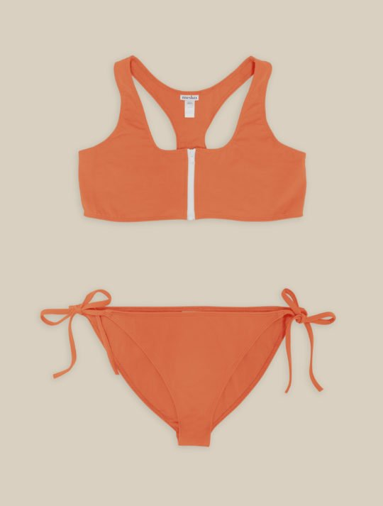 maillot de bain ado fille orange eco-responsable