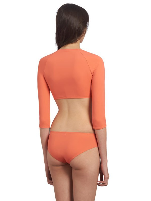 ensemble maillot de bain manches longues orange ado fille
